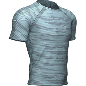 Compressport Training Kurzarm T-Shirt Herren nile blue